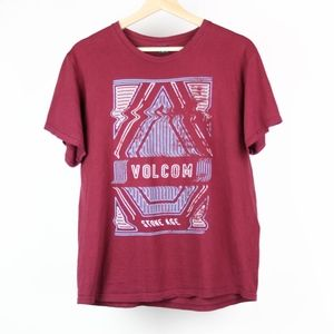 Volcom Mens T-Shirt Graphic Tee Stone Age Medium